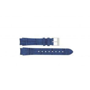 Prisma cinturino dell'orologio 33 832 117 Pelle Blu 14mm + cuciture blu