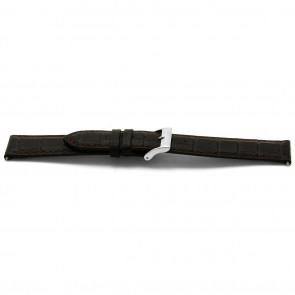 Cinturino orologio in pelle, marrone, 12mm EX-C332