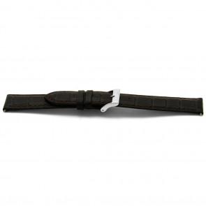 Cinturino orologio in pelle, marrone, 16mm EX-E332