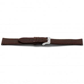 Cinturino per orologio Universale E333 Lizard Slimline Pelle Marrone 16mm