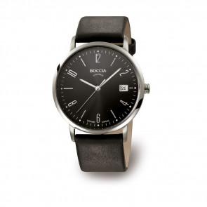 Cinturino per orologio Boccia 3557-02 Pelle Nero 21mm