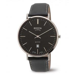 Cinturino per orologio Boccia 3589-02 Pelle Nero 20mm