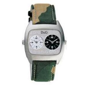 Dolce & Gabbana cinturino dell'orologio 3719240255 Pelle/Tessuto Verde 22mm + cuciture beige