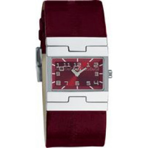 Cinturino per orologio Dolce & Gabbana 3719251493 Pelle Bordò 25mm