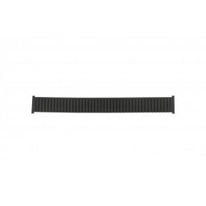 Cinturino per orologio Universale 382960 Acciaio Nero 22mm