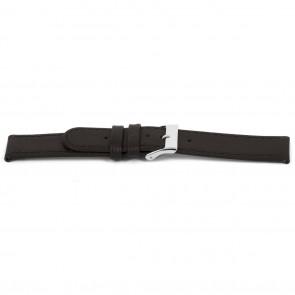 Cinturino dell'orologio D400G Pelle Marrone 14mm + cuciture marrone