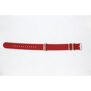 Cinturino dell'orologio 409.06.20 Tessuto Rosso 20mm