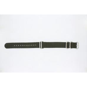 Cinturino dell'orologio 409.27.22 Tessuto Verde 22mm
