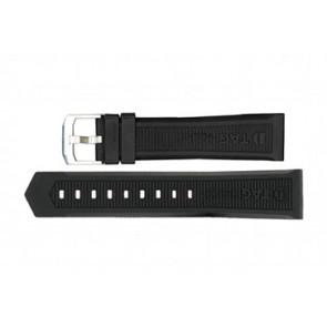 Cinturino per orologio Tag Heuer WAH1010 / CAH1012 / BT0717 Gomma Nero 22mm