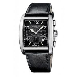 Raymond Weil cinturino dell'orologio SI2801-4876-1 Pelle Nero 28mm + cuciture nero