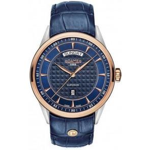Cinturino per orologio Roamer 508293.49.45.05 Pelle Blu
