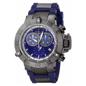 Cinturino per orologio Invicta 5509.01 Acciaio/Silicone Blu