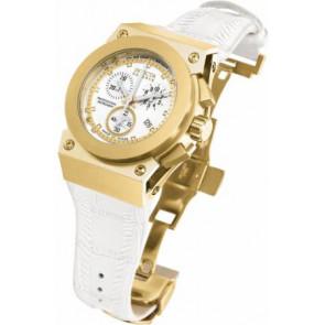 Cinturino per orologio Invicta 5574.01 Pelle Bianco