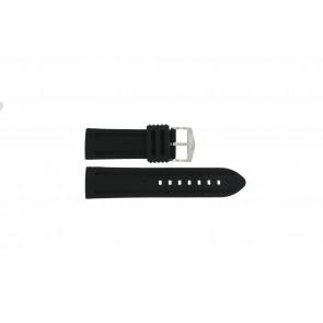 Cinturino dell'orologio 5809.24 Silicone Nero 24mm
