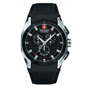 Cinturino per orologio Swiss Military Hanowa 6-4191.33.007 Pelle Nero 24mm