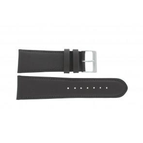 Cinturino dell'orologio 61215B.27.26 Pelle Marrone scuro 26mm + cuciture di default