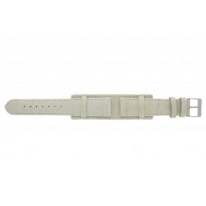 Cinturino dell'orologio 61325.12.20 Pelle Beige 20mm + cuciture beige