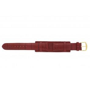 Cinturino dell'orologio 61325.45.20 Pelle Rosso 20mm + cuciture rosso