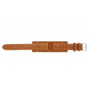 Cinturino dell'orologio 61325.75.18 Pelle Arancione 18mm + cuciture arancione