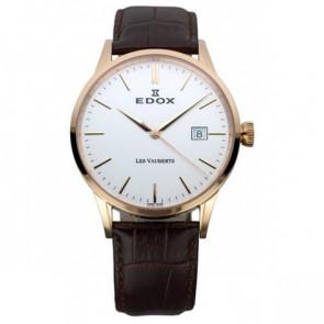 Cinturino per orologio Edox 70162 / 493467 Pelle Marrone scuro 20mm