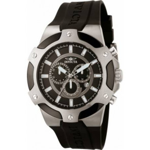 Cinturino per orologio Invicta 7342-SIGNATURE-II Gomma Nero 21mm