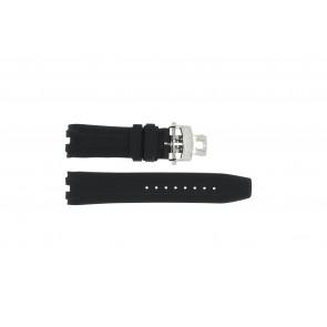 Cinturino per orologio Roamer 750837 Gomma Nero