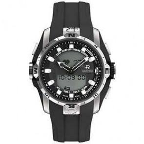 Cinturino per orologio Roamer 770990-41-55-07 Gomma Nero