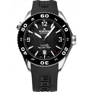 Cinturino per orologio Edox 80061 Silicone Nero 20mm