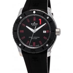 Cinturino per orologio Edox 80088 Gomma Nero