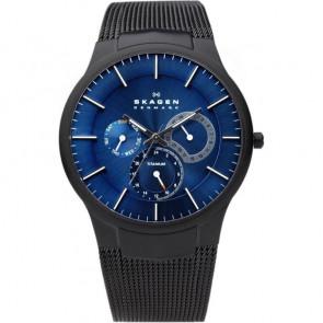 Cinturino per orologio Skagen 809XLTBN Acciaio Nero