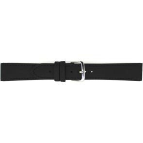 Cinturino dell'orologio 823.01.10 Pelle Nero 10mm + cuciture nero