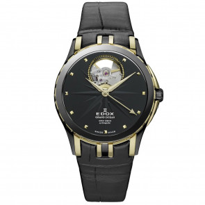 Cinturino per orologio Edox 85012 Pelle Nero