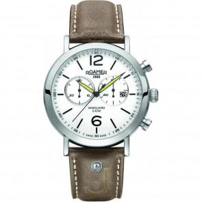 Cinturino per orologio Roamer 93595-41-24-09 Pelle Marrone