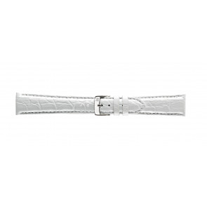 Morellato cinturino dell'orologio Amadeus G.Croc Glans U0518052017CR22 / PMU017AMADEC22 Pelle di coccodrillo Bianco 22mm + cuciture di default