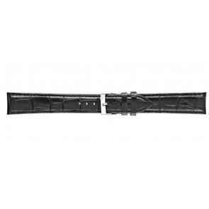 Morellato cinturino dell'orologio Bolle XL Y2269480019CR22 / PMY019BOLLE22 Pelle di coccodrillo Nero 22mm + cuciture di default