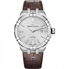 Cinturino per orologio Maurice Lacroix Aikon AI6008-SS001-130-1 Pelle Marrone 25mm