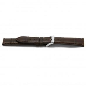 Cinturino orologio in vera pelle di alligatore, marrone, 22mm EX-H334