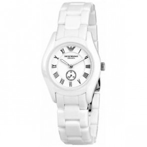 Cinturino per orologio Armani AR1405 Ceramica Bianco 18mm