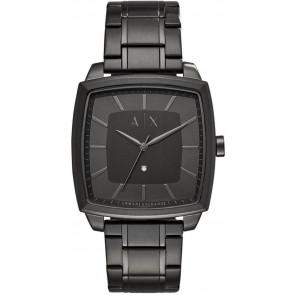 Cinturino per orologio Armani Exchange AX2361 Acciaio Nero 22mm
