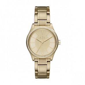 Cinturino per orologio Armani Exchange AX5441 Acciaio Placcato oro 18mm