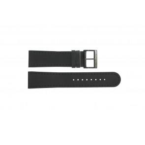 Cinturino per orologio Mondaine BM20054-W Pelle Nero 22mm