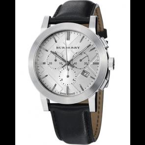 Cinturino per orologio Burberry BU9358 / 7177850 Pelle Nero
