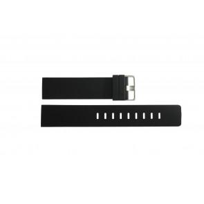 Cinturino per orologio Obaku BV138G-T Silicone Nero 20mm
