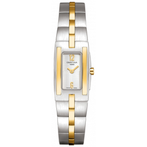 Cinturino per orologio Certina C0021092203200A / C605011453 Acciaio Bi-colore