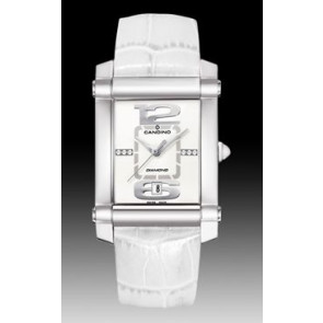 Cinturino per orologio Candino C4283 Pelle Bianco 22mm