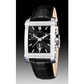 Cinturino per orologio Candino C4284/H Pelle Nero 22mm