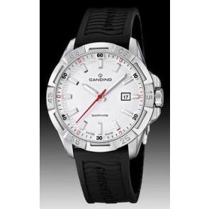 Cinturino per orologio Candino C4497-1 (BC07412) Gomma Nero