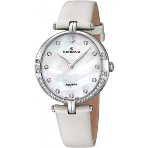 Cinturino per orologio Candino C4601 Pelle Bianco