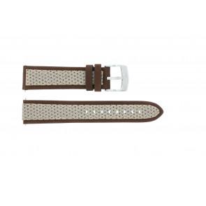 Cinturino per orologio Camel BC50990 / A667.5327LGPA Pelle/Tessuto Marrone 22mm