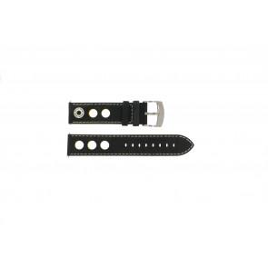 Cinturino per orologio Camel BC51026 / A661.3522A.LBPA Pelle Nero 22mm